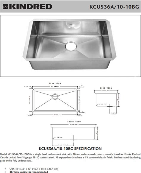 size of kitchen sink kindred stainless steel single bowl undermount kitchen