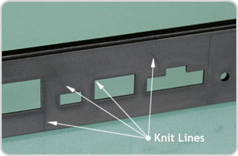 knit line design tips for rapid injection molding avoid knit lines