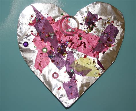 crafts for for valentines preschool crafts for s day foil hearts