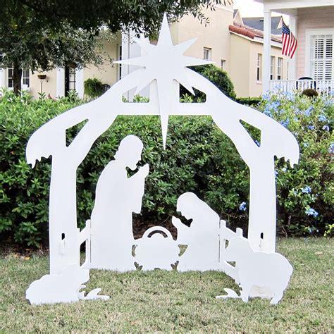 outdoor creche teak isle outdoor nativity set yard