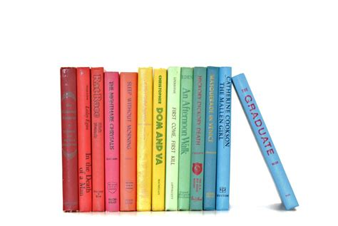 picture of a books colorful vintage books you are my fave
