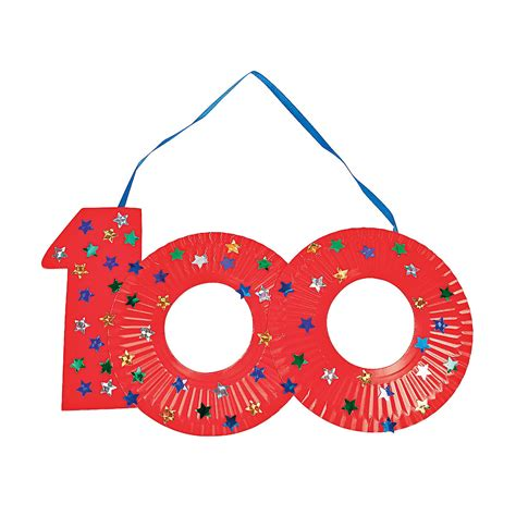 100th day of school craft projects paper plate 100th day of school craft kit