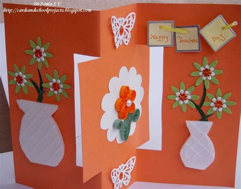 craft ideas for card cards crafts projects teachers day card recycled