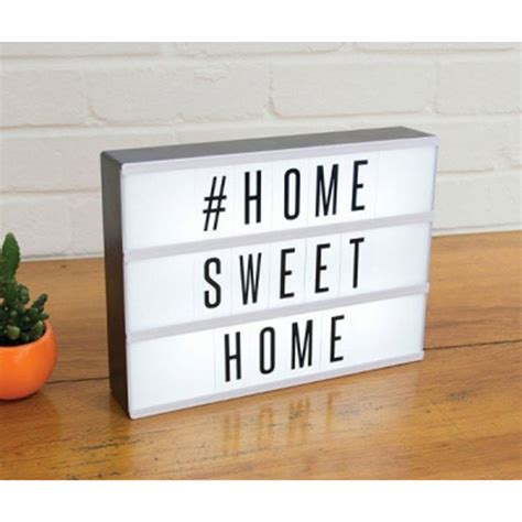 First Home Housewarming Gift light up cinematic message board