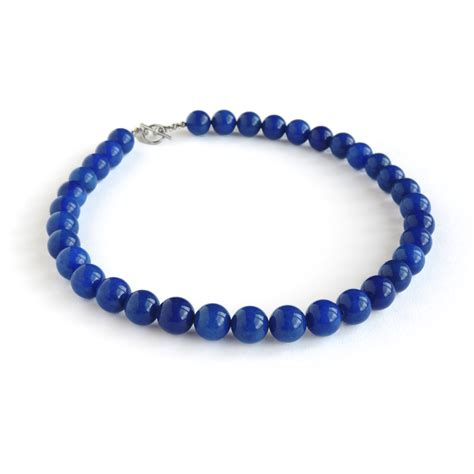 chunky bead necklace for royal blue chunky bead necklace king jewellery