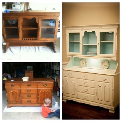 diy chalk paint hutch diy china cabinet china hutch before and after chalk paint