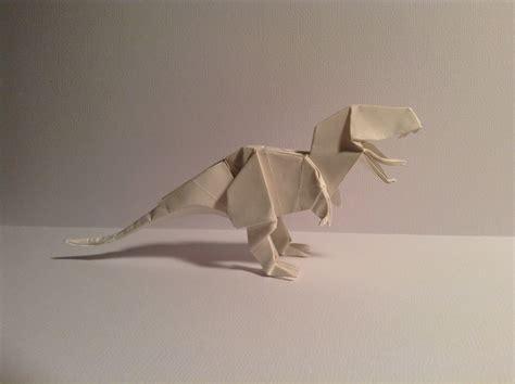 origami t rex origami t rex 4 by kazikasaurus on deviantart