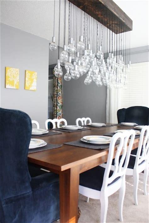 diy dining room light diy multi light bulb dining room chandelier