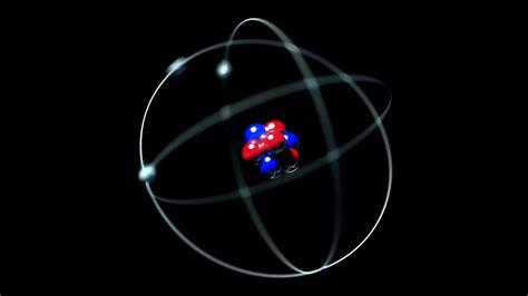 Protons In Nucleus by Atom Single Nucleus Proton Neutron Electron Loop Motion