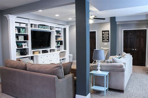 work entertainment ideas finished basement ideas before after built in