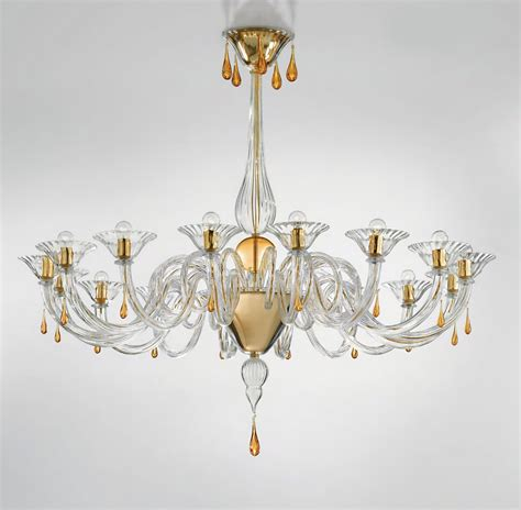 modern glass chandeliers modern murano chandelier lighting clear glass and gold metal finish syl1380k16 murano imports