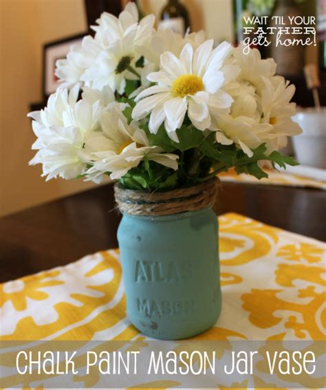 chalk paint on jars adding pops of color to your home color my home series