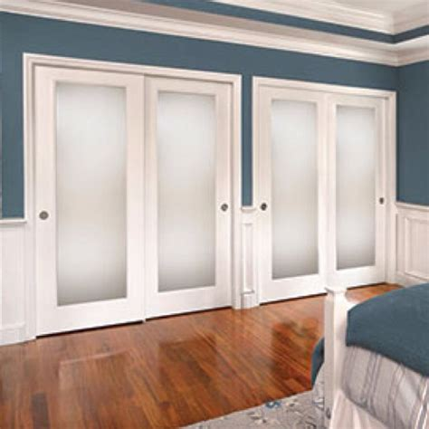 closet doors with glass frosted glass closet doors home