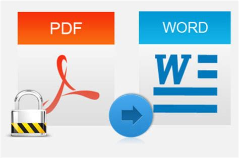 pdf to word how to convert password protected pdf file to word