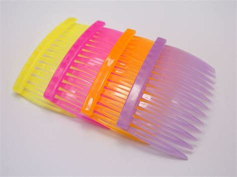 plastic hair 20 mixed color plastic hair side combs pin barrettes