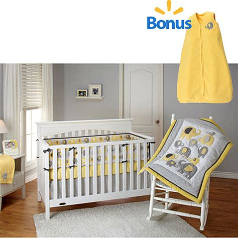 bedding by nojo yellow elephant time 4 crib
