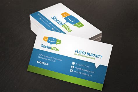 business card social media business card business card templates on