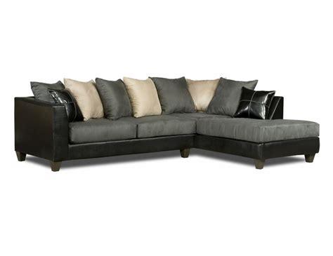black microfiber sectional sofa black gray white sectional sofa pillow back 4185