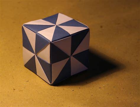 origami cube pinwheel cube 6 unit assembly tomoko fuse
