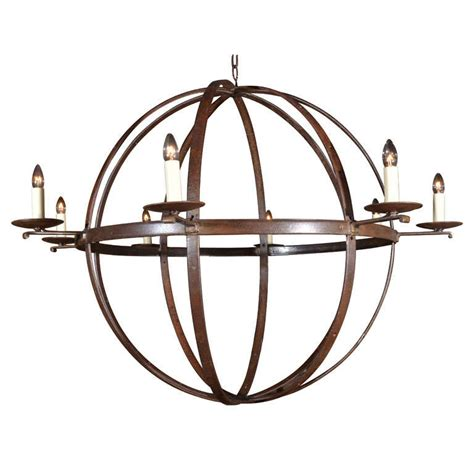wrought iron orb chandelier iron orb chandelier 28 images domani chandelier