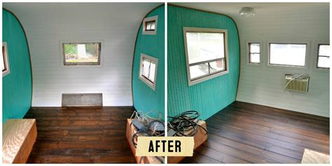 Remodeled Campers redoing a vintage camper bungalow 47 style bungalow 47