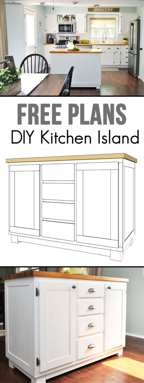 how do you build a kitchen island how to build a diy kitchen island cherished bliss