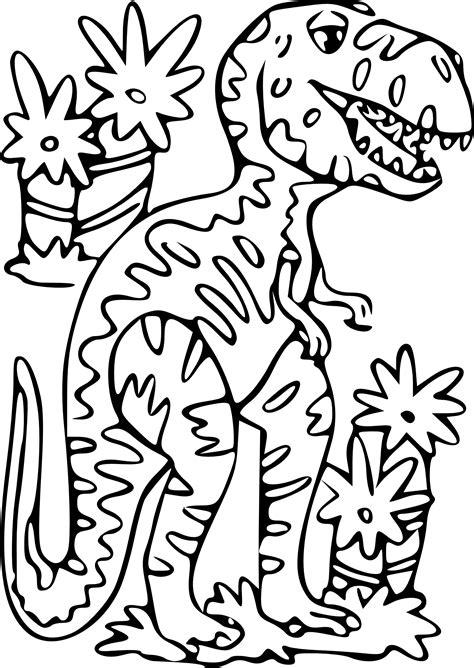 coloriage dinosaure t rex 224 imprimer sur coloriages info