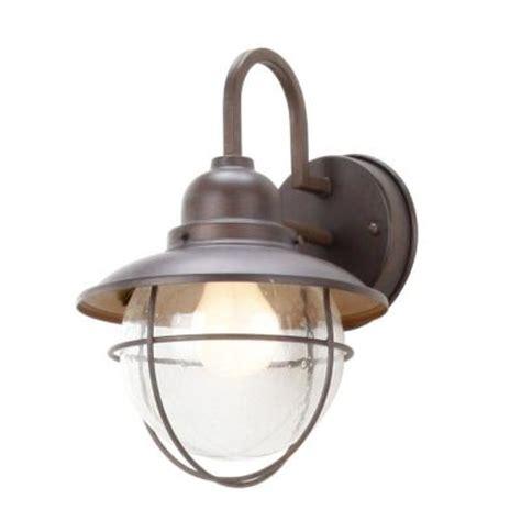home depot outdoor lights hton bay 1 light brick patina outdoor cottage lantern
