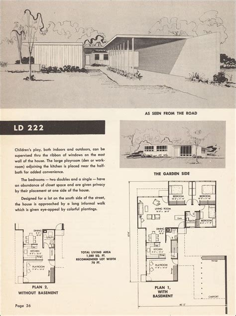 mid century modern floor plans mid century modern floor plan house cottage