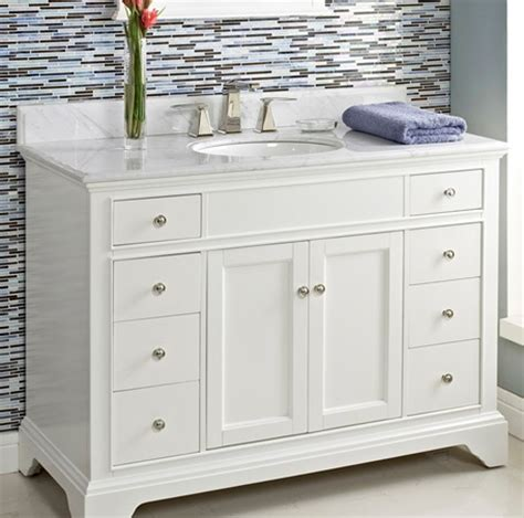 fairmont designs bathroom vanity framingham 48 quot vanity polar white fairmont designs