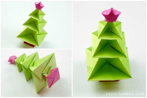 origami paper tree origami tree tutorial paper kawaii