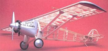 airplane rubber st scale model spirit of st louis gui807 guillows free