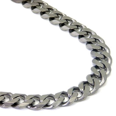 bracelet chains for jewelry italian cut titanium 10mm curb necklace chain