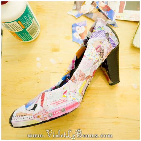 how to make decoupage shoes how to diy decoupage shoes tutorial violet lebeaux