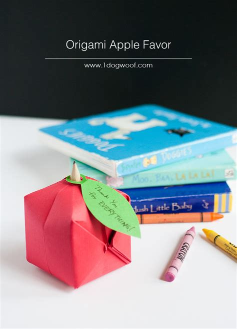 back to school origami origami apple favor favors simple crafts and bebe