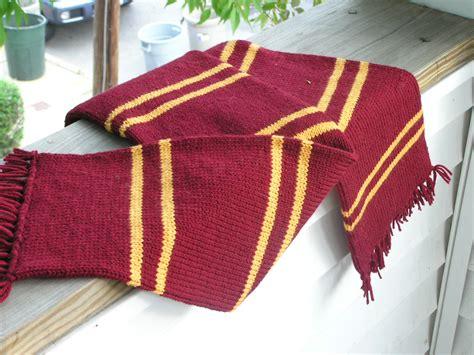 hogwarts scarf pattern knit prisoner of azkaban gryffindor scarf knitting