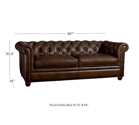 chesterfield tufted leather sofa chesterfield leather sofa pottery barn
