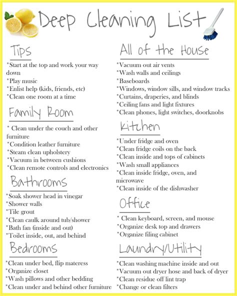 cleaning list cleaning using the steammachine homeright