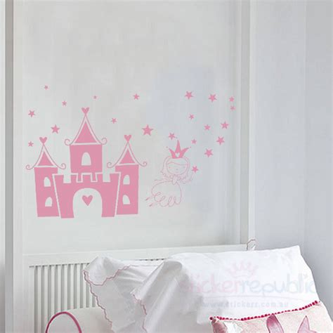 princess castle wall stickers princess castle wall sticker