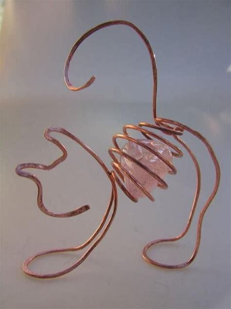 wire for craft projects 3d wire wrapped cat craft ideas 5575 lc pandahall
