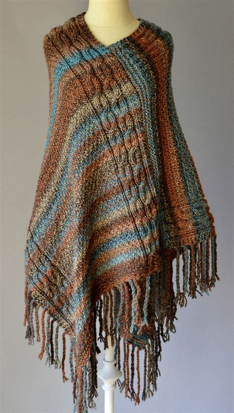 bulky wool knitting patterns free knitting pattern for cable poncho this