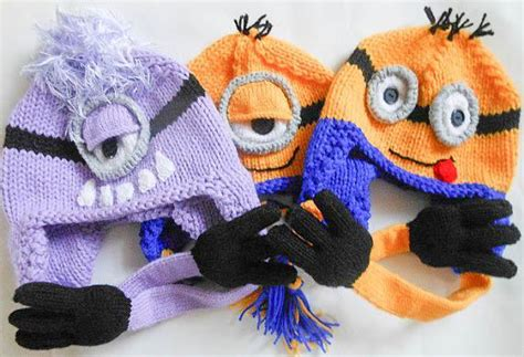 minion hat knitting pattern knitting patterns can wear for dress up play