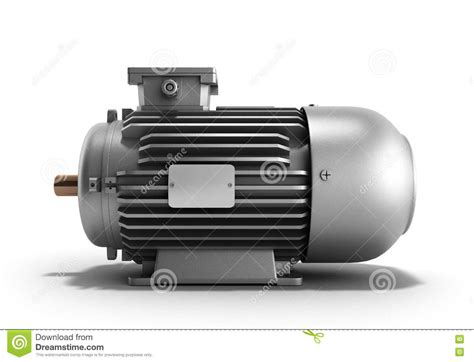 Electric Motor Generator by Electric Motor Generator 3d Render On A White Background