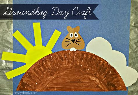 groundhog day crafts for groundhog day craft for paper plate crafty morning