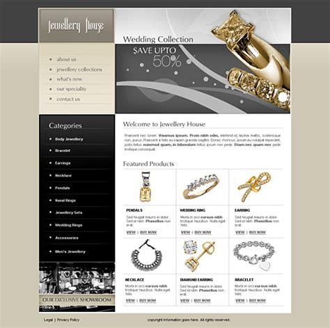 jewelry websites jewelry house web template 2443 jewelry website