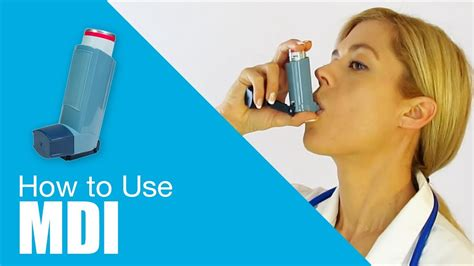 how to properly use how to use metered dose inhaler mdi