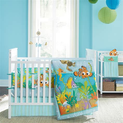 disney baby crib bedding nemo s reef 4 crib bedding set disney baby
