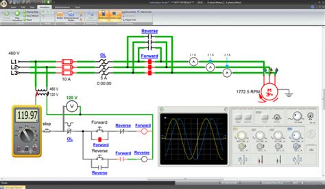 Electric Motor Simulation by Automation Studio Complete Simulation Software Tech Labs