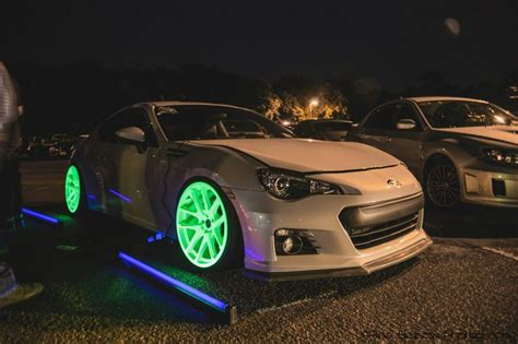 glow in the painted rims glow in the rims subaru br z cars