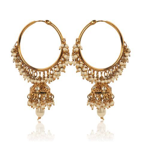 earrings with buy white hoop earrings with pearls by adiva abswe0bi0028